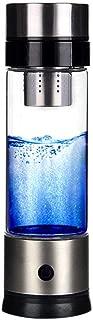 LeKing Vaso de Agua de Vaso Rico en hidrógeno portátil, Vaso de Salud de Vidrio (Caja de Color)