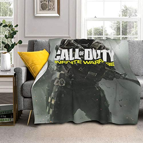 Infinite-Warfare Soft Lamb Double Layer Blanket Throw Fuzzy Cozy Plush Bed Couch Sofa Cover Blanket