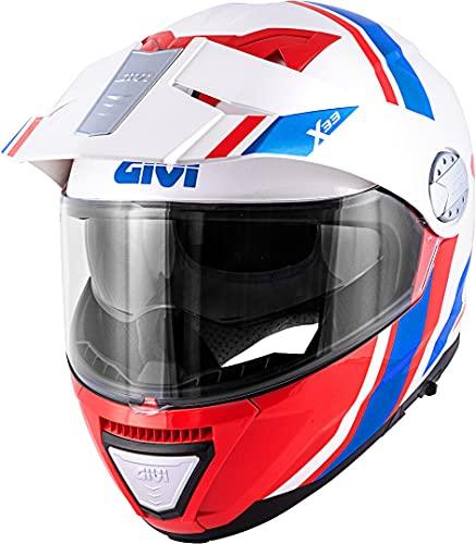 GIVI HX33FDVWR61 Casco, Bianco/Rosso/Blu, XL