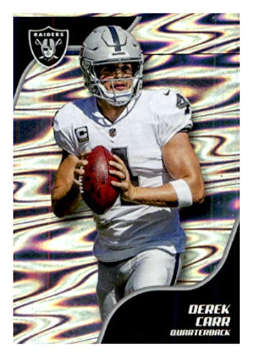 2019 Panini NFL Stickers Football #272 Derek Carr Oakland Raiders Official Sticker Collection Collectible (paper thin and small size)