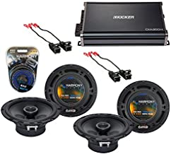 Compatible with GMC Envoy 2002-2009 Factory Speaker Replacement Harmony (2) R65 & CXA300.4 Amp (Renewed)