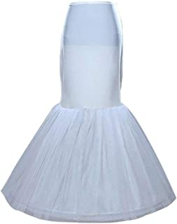 Sisjuly Women's Mermaid Underskirt Wedding Petticoat Slips for Bridal One Size White