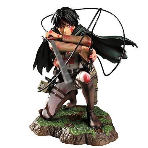 SASKATE Attack on Titan Figure, Anime Cartoon Figure Model, Action Character Model Toy Realistic Office Desktop Ornaments