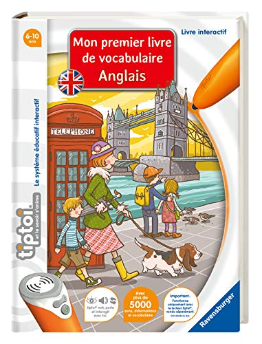 Ravensburger - Livre interactif tiptoi - Mon Premer Livre de Vocabulaire Anglais - Jeux électroniques éducatifs sans écran en français - A partir de 6 ans - 00670