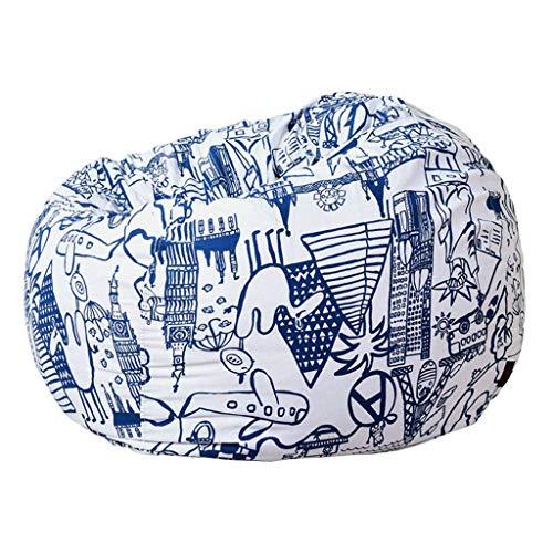 LuoMei Bolso de Frijoles Moderno Simple Sofá Perezoso Sillón Tatami Tela de Dormitorio Extraíble Sofá Pequeño Sofá Perezoso Envío Gratis Cepillo PegajosoB