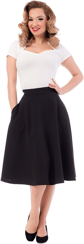 Steady Pocket High Waist Thrills Skirt in Black