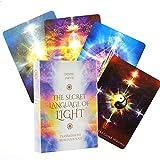 45 Piezas The Secret Language of Light Oracle Card, Juego De Cartas De Adivinación De Reunión Familiar, Inglés, Adecuado para Los Amantes del Tarot