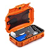 Evergreen 56 Waterproof Dry Box Protective Case - Travel Safe/Mil Spec/USA Made - for Tackle Organization of Cameras, Phones, Camping, Fishing, Hiking, EDC, Water Sports, Knives (Orange)