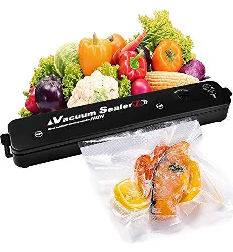 Vakuumierer - Apark Kompakter Folienschweißgerät für Lebensmittel, Trocken- und Feuchtigkeitsmodi - Vakuumiergerät inkl 16 Vakuumierbeutel, Vakuumieren & Versiegeln, für Folien bis 28 cm Breite