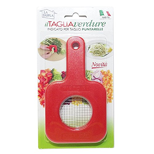 ItalyStore La Dupla tagliaverdure taglia puntarelle affetta verdure a cubetti piccoli taglia verdura 4x4 mm