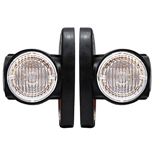 2x 24V SMD LED Seitenmarkierungsleuchten Hochwertig Begrenzungsleuchten Positionsleuchten Gelb Rot Weiß LKW Anhänger