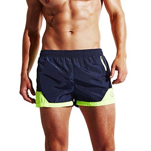 Surenow Herren Männer Jungen Kurze Hose Surfshorts Stammbadebekleidung Badeshorts Badehose Beachshorts Boardshorts Dunkelblau