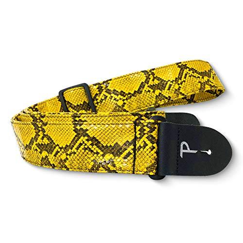 Perri's Leathers - Correa de piel sintética para guitarra (5 cm de ancho, ajustable de 104 cm a 142 cm de largo (correa para bajo, guitarra eléctrica y acústica)