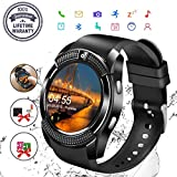 Bluetooth Smartwatch, Orologio Intelligente, Mini Smartwatch con fotocamera Smart Watch con SIM Card Watch Pedometro Tracker Guarda Sport Bracciale per Android Huawei Samsung