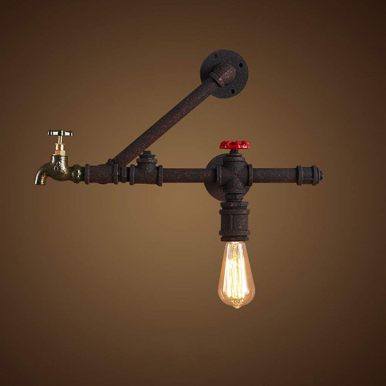 JU Loft Kreative Persönlichkeit Licht Retro Restaurant Bar American American American American Wasserrohr Gang Industrie Wind Wandleuchte B07HL7RSYR | Perfekte Verarbeitung  b33a64