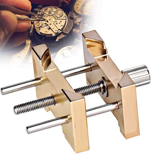 Reparaturwerkzeug für Armbanduhrengehäuse, Werkzeug zum Entfernen des Armbanduhrwerkzeugs Verstellbare Gehäusehalterhalter-Schraubzwinge mit Aufbewahrungsbox für den handwerklichen Gebrauch