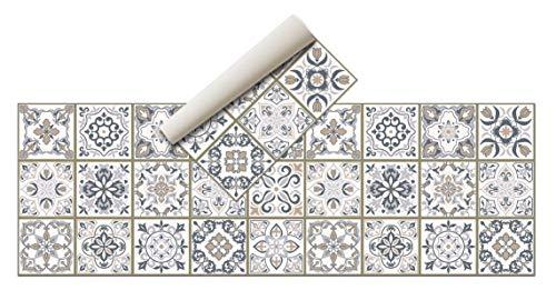 Alfombra Vinílica - (Hidráulica,180x60 ) - Distintos diseños y tamaños - Opción personalizable - Alfombra Cocina, baño, salón comedor - Antideslizante - Alfombra dormitorio - Goma esponjosa, suelo PVC