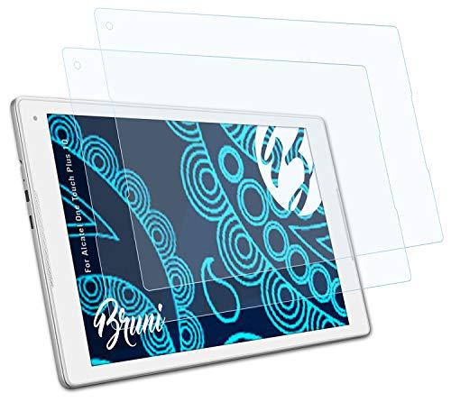 Bruni Schutzfolie kompatibel mit Alcatel One Touch Plus 10 Folie, glasklare Bildschirmschutzfolie (2X)