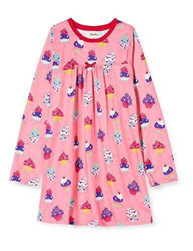 Hatley Mädchen Long Sleeve Nighties Nachthemd, Pink (Dancing Cupcakes 650), 3 Jahre