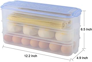 Green Multi-Purpose Crisper Food Fruit Storage Box, Food Storage Bento Box, BPA Free, Reusable, Freezer Safe, Recyclable &...