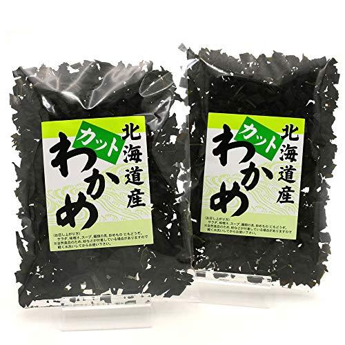 カットわかめ 120g(60g×2袋) 国産 北海道産 天然わかめ 干しわかめ ワカメ 乾燥 かっとわかめ ほしわかめ