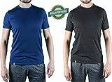 Alpin Loacker Merino T-Shirt Merino-Wolle Sportshirt Herren | wenig Schweiß + Lange trocken | Funktionsshirt Unterwäsche | l grau