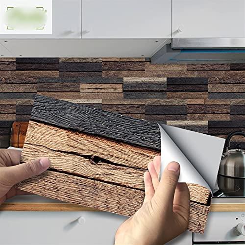 Byrhgood 20x10cm Piedra de Piedra Pegatina de Pared Impermeable Autoadhesivo PVC Pegatinas de azulejo para baño Cocina de Cocina Decoración del hogar (Color : UB028, Size : 10x20x54pcs(1m2))