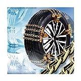 Camión de acero ruedas de coche del neumático del neumático de nieve Cadenas de hielo Cinturón invierno antideslizante vehículos todoterreno rueda de cadena de barro seguridad vial segura Cadenas De N