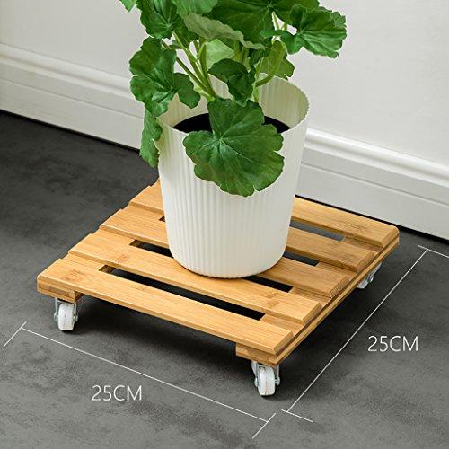 Support de fleur en métal Rayonnage Fleur pot base mobile Poulie salon intérieur en bois balcon charnu (taille : A)
