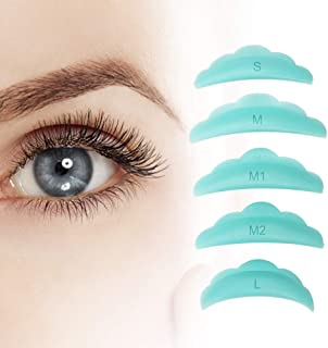 Libeauty Lash Lift Rods Green Eyelash Perm Silicone Pads 5 Sizes Reusable Soft lash perm rods for different length eyelash...