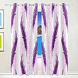 Ahomy - Cortinas opacas con aislamiento térmico de plumas moradas para salón, comedor, dormitorio, 213,3 x 139,7 cm, 2 unidades