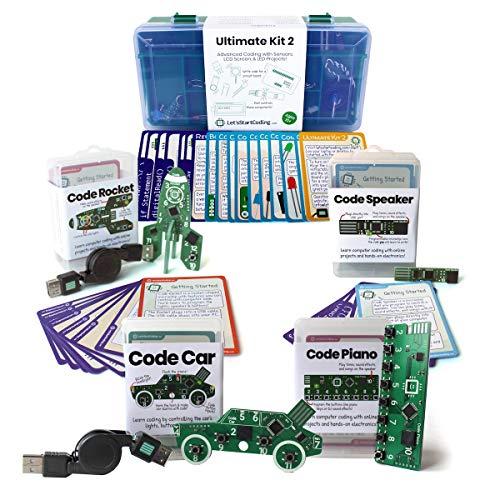 Bundle: Ultimate Kit 2 (2019 Edition) + Car + Rocket + Piano + Speaker | Coding Kits for Kids 8-13 | Bundle and Save!