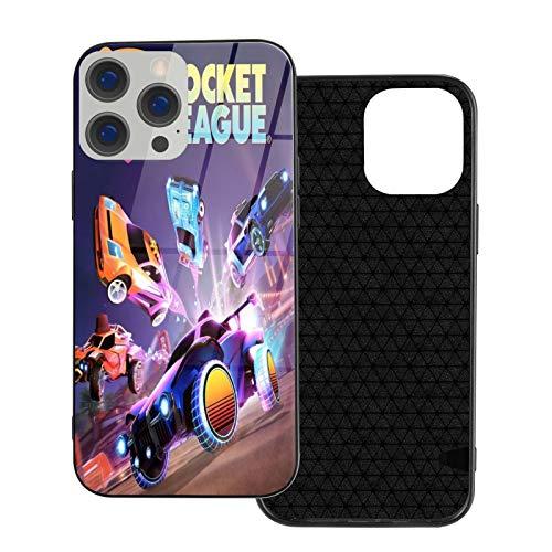 Kompatibel mit iPhone 12/12 Pro Max 12 Mini 11 Pro Max SE X/XS Max XR 8 7 6 6s Plus Hülle Rocket League Temperiertes Glas Schwarz Handyhülle