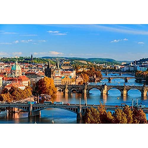 Vista Della Città Di Praga 1500 Pcs Puzzle In Legno Collezione Di Giochi Per Famiglie Giocattoli Educativi Antistress Diy Regali Creativi Fatti A Mano