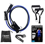 Burgeon SLOVIC Resistance Tube/Band with Foam Handles, Door Anchor for Men and Women with Extensive Guide Containing 30 Plus Exercises