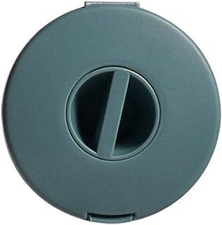 Honton Boîte de rangement ronde rotative pour câble de données, facile à transporter, 6,3 x 1,7 cm, bleu