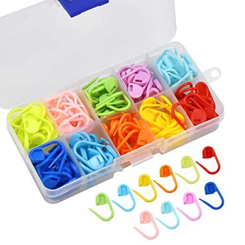 AvoDovA 150 Piezas Marcadores de Puntos Ganchillo, Crochet Marcadores de Plástico, 10 Colores...