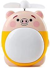 HUI JIN Sourcingmap Mini ventilateur de bureau USB pour enfant Motif cochon Jaune