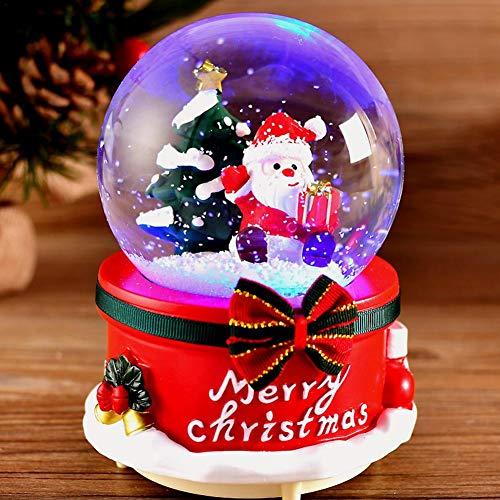 Gravere Globo di Neve di Natale con Musica e Luce a LED, Sfera di Cristallo, Carillon, Regalo di...
