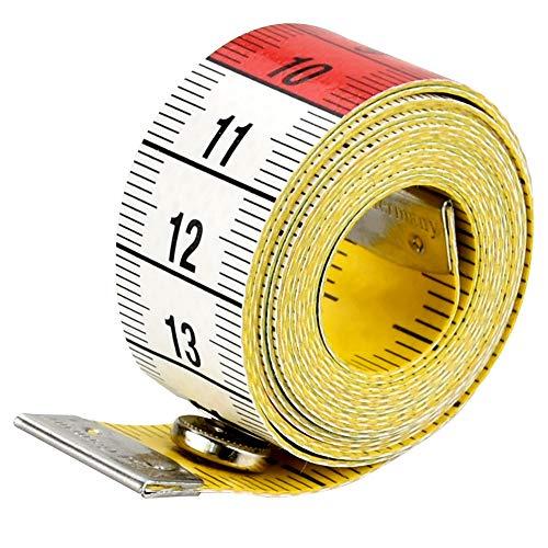 COOLBOTANG メジャー 裁縫用メジャー テープメジャー レインボーメジャー 両面用 テーラーメジャー 自在曲線定規 メジャーテープ ボディ測定テープ 採寸 洋裁 定規 巻尺 胸囲 布 巻き尺 裁縫 測定用 可愛い 携帯便利 スナップ付き150cm/
