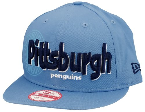 New Era - Casquette Snapback Homme 9Fifty NHL Dough Word - Pittsburgh Penguins - Taille S/M