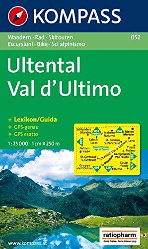 Ultental - Val d'Ultimo: Wanderkarte mit Kurzführer, Radrouten und Skitouren. GPS-genau. 1:25000