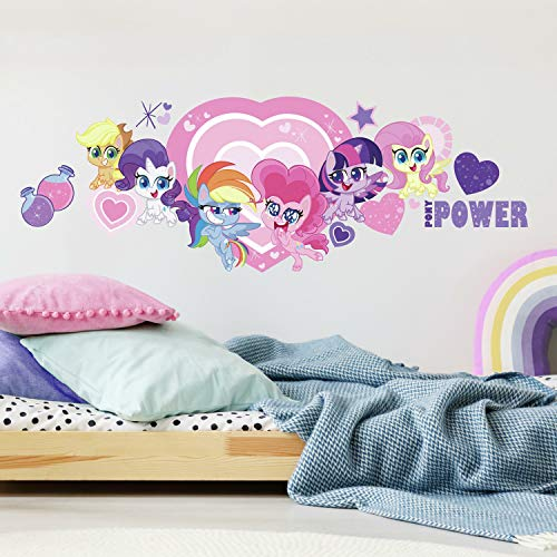 RoomMates My Little Pony Let's Get Magical Peel and Stick Removable Giant Wall Decals