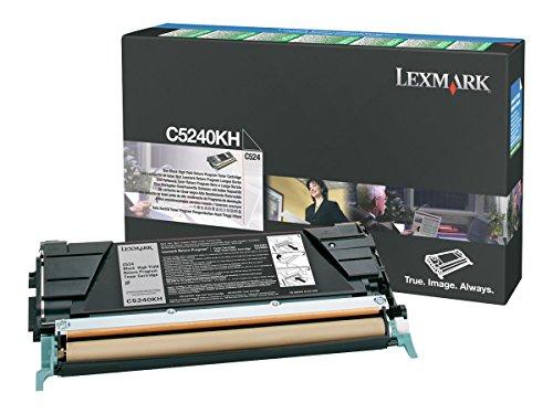 Lexmark C5240KH High Yield Return Program Black Toner Cartridge for C524, C534