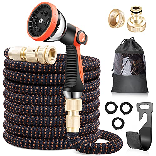 lanktoo Expandable Garden Hose 50ft, Flexible Lightweight Water Hose with...