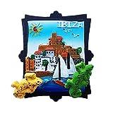 Imán de nevera fuerte 3d de Ibiza Island España Europa Ciudad del Mundo de Resina 3D para regalo turístico chino imán hecho a mano artesanal creativo hogar y cocina decoración magnética pegatina
