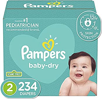 Diapers Size 2 234 Count - Pampers Baby Dry Disposable Baby Diapers ONE MONTH SUPPLY