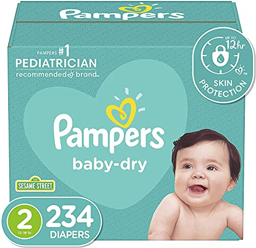 Diapers Size 2, 234 Count - Pampers Baby Dry Disposable Baby Diapers,...
