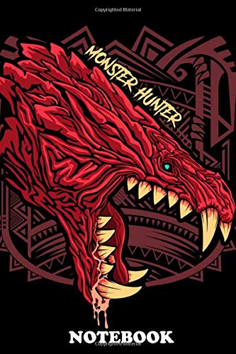 Notebook: Odogaron Monster Illustration , Journal for Writing, College Ruled Size 6
