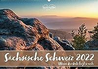 Saechsische Schweiz - Wenn das Gute liegt so nah (Wandkalender 2022 DIN A2 quer): Das Elbsandsteingebirge in neuen Perspektiven. Vertraute Landschaften neu sehen und entdecken. (Geburtstagskalender, 14 Seiten )